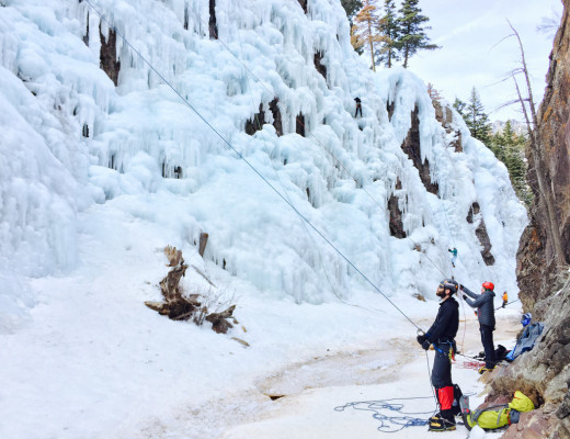 Climbing at Ouray Ice Park, Ouray CO
