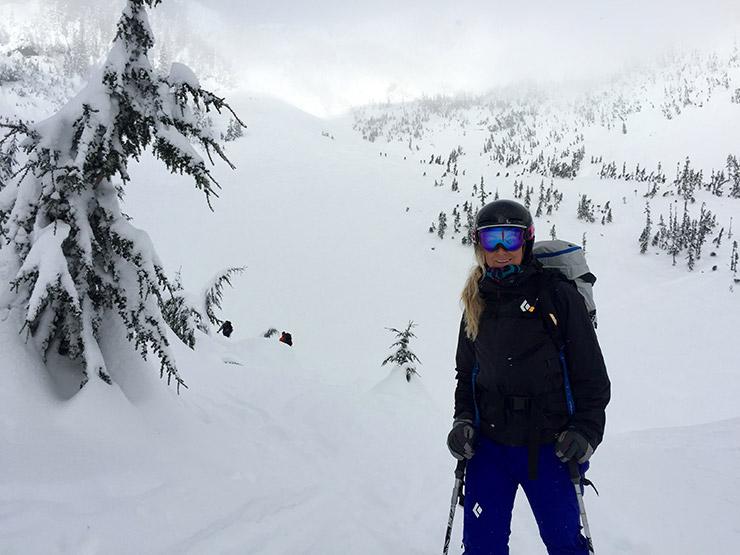 Post backcountry skiing Source Lake