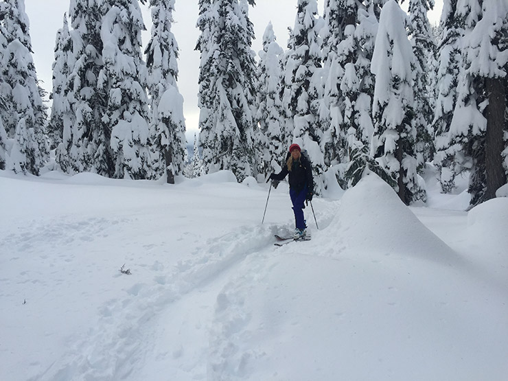 Skinning in Alpental