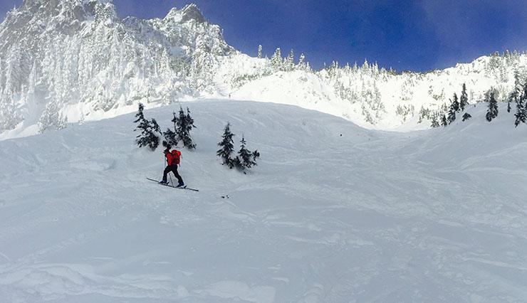 Source Lake - backcountry skiing