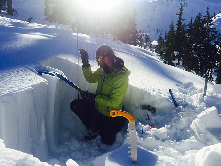 Snow stability test - compression test