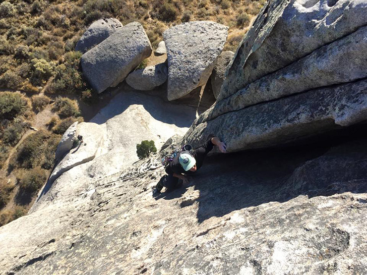 Climbing Elephant Rock at City of Rocks ID