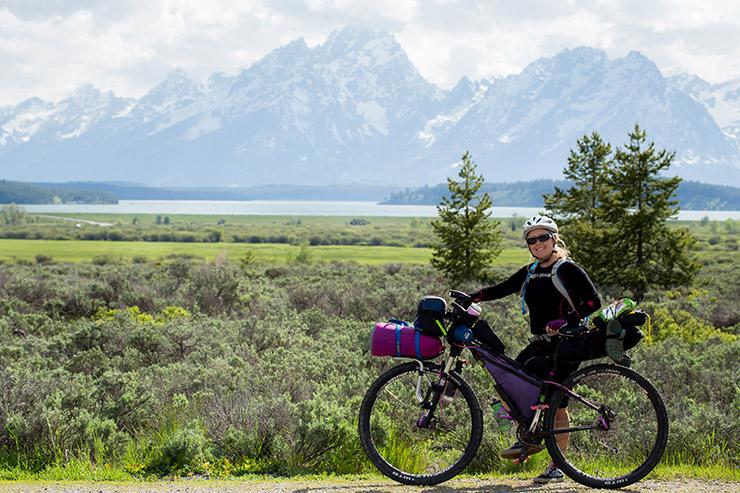 Bike riding around Grand Teton National Park