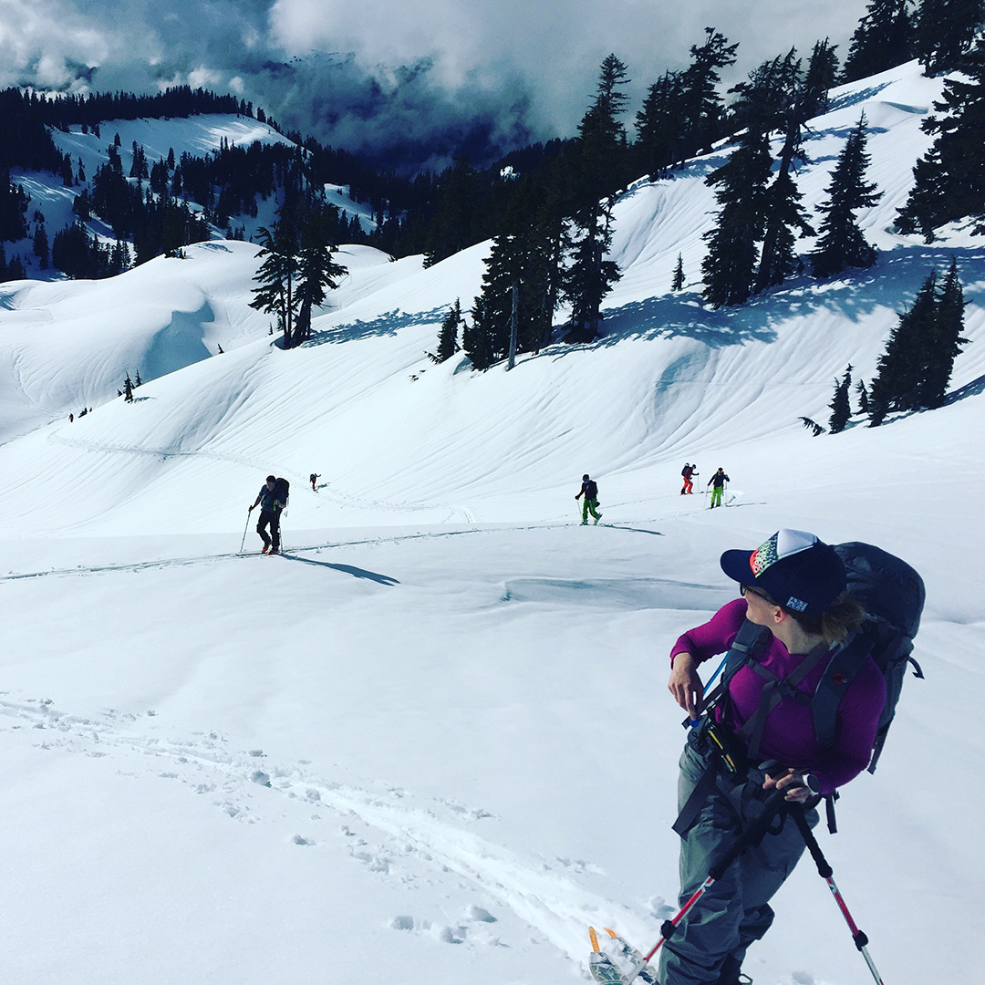 Backcountry skiing Table Mountain Mt. Baker